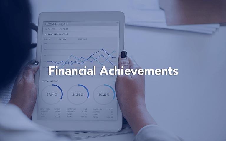 financial achievements